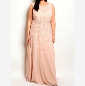 Dresses & Skirts - 🆕Plus 1X 2X 3X Blush Pink Peach PROM Formal Dress